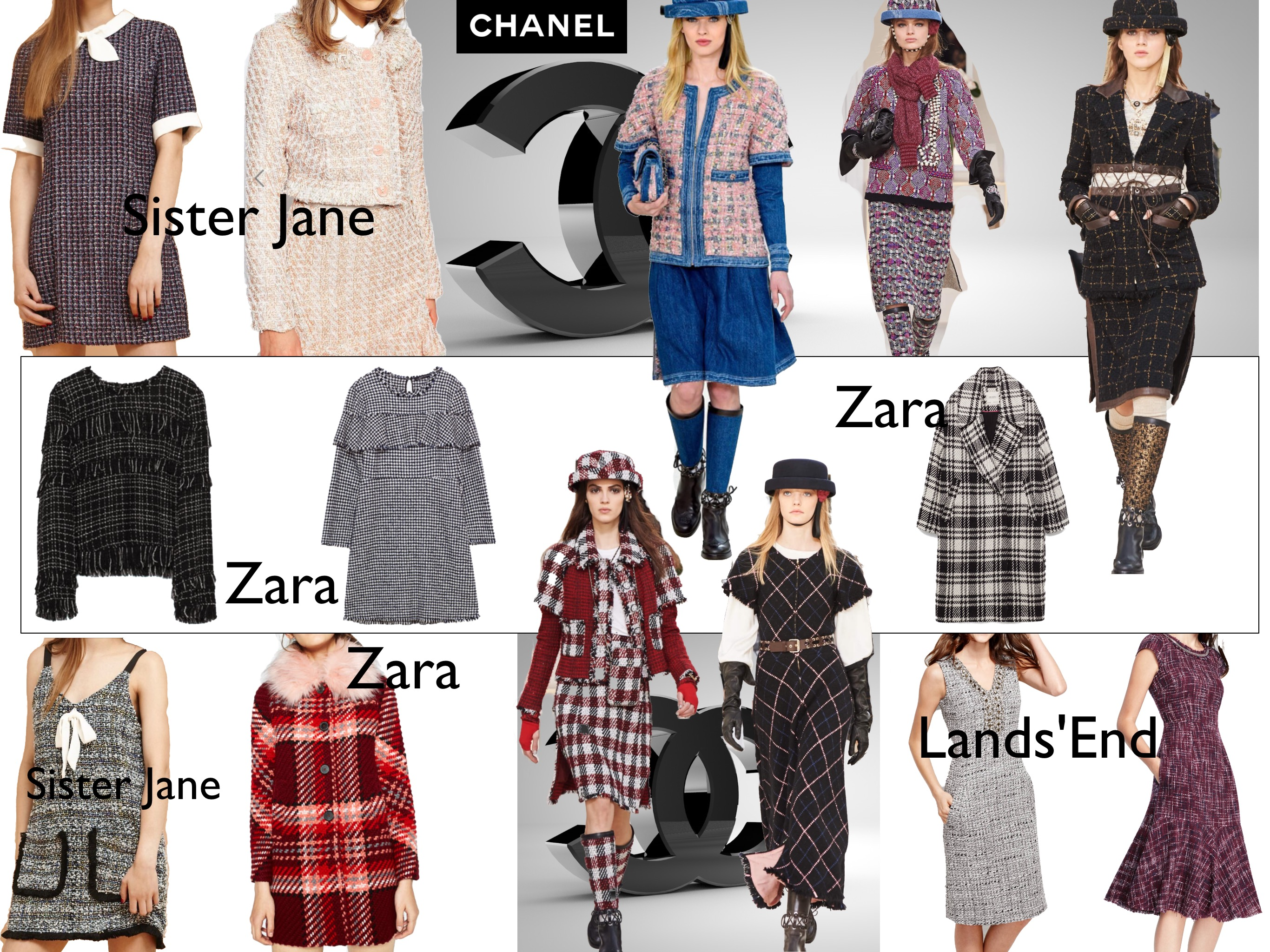 Chanel FW16 inspired outfits collection: tweed