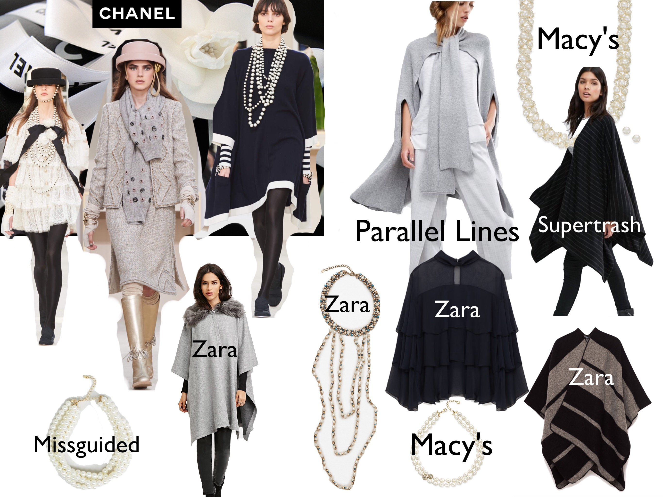 Chanel FW16 affordable looks