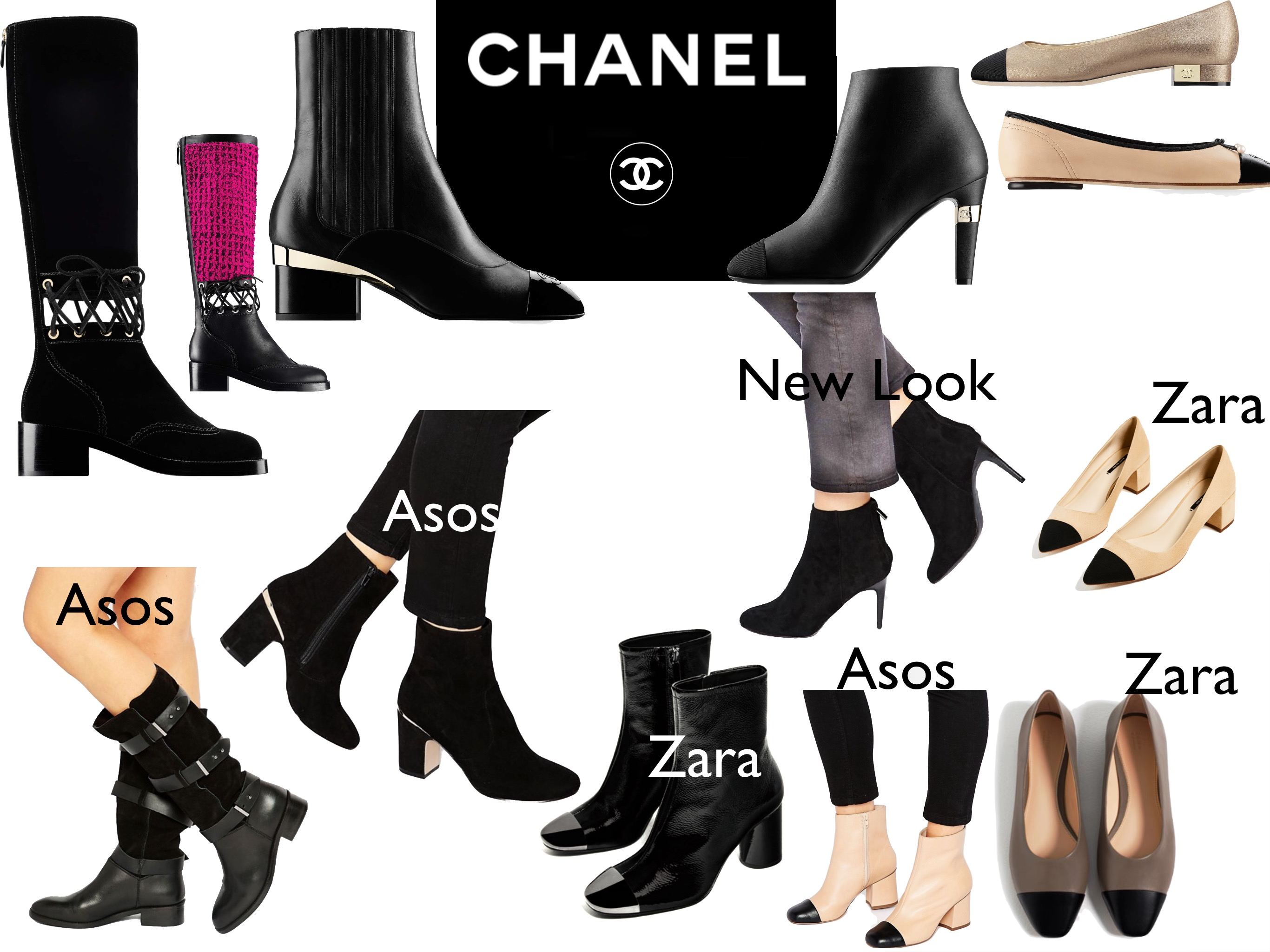 Chanel FW16 inspired outfits: shoes