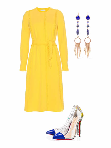 Spring-summer 2016 outfit: Dress by ALTUZARRA, Earrings by ISABEL MARANT, Shoes by CHRISTIAN LOUBOUTIN