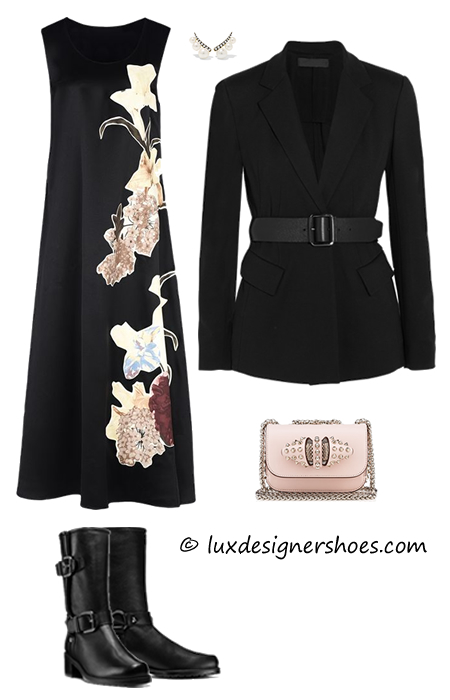"Fall-winter 2016 outfit with Stuart Weitzman shoes ""RANGER IN LEATHER"""
