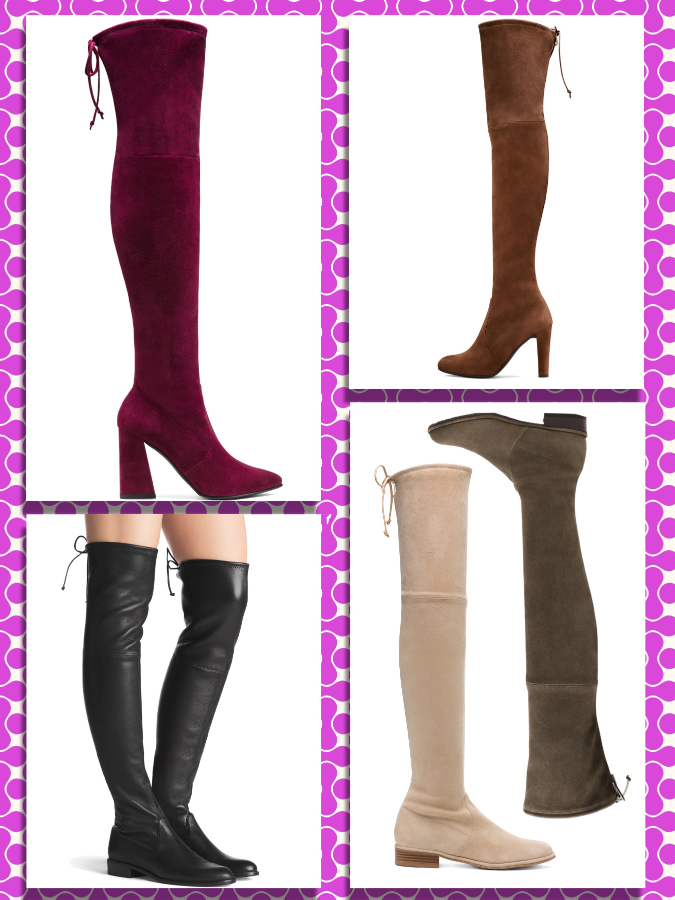 "Stuart Weitzman ""The Highland boot"", ""The Lowland boot"", ""The Mitten bootie"", ""The Grandiose bootie"""