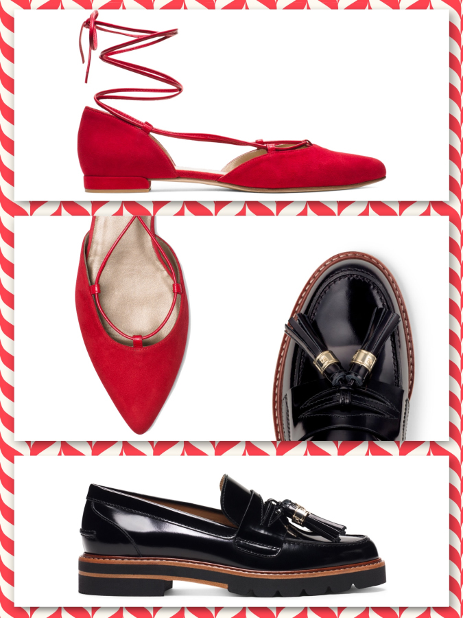 "Stuart Weitzman ""The Gilligan flat"", ""The Romanflat sandal"", ""The Manila loafer"", ""The Manifesto flat"""