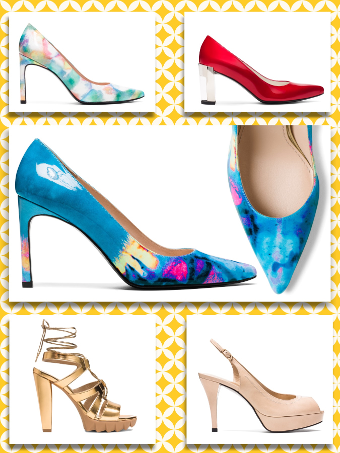 "Stuart Weitzman ""The Heist pump"", ""The Litely pump"", ""The Slinker pump"", ""The Tiegirl sandal"""