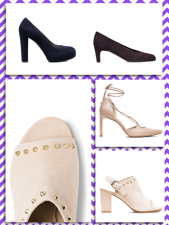 "Stuart Weitzman ""The Strongswoon pump"", ""The Commodore bootie"", ""The Chicpump pump"", ""The Onastring pump"""