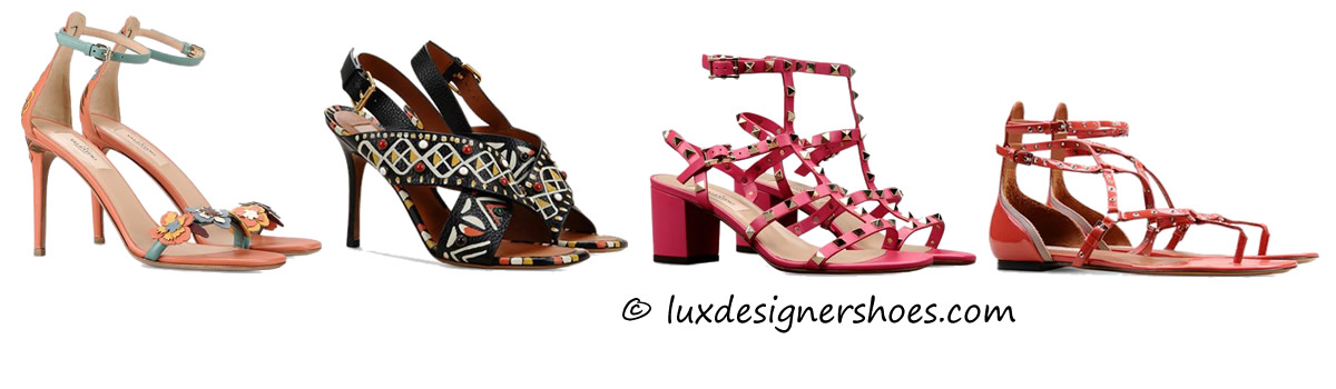 "Valentino ""Hawaiian Couture Sandal"", ""Hand-painted sandal"", ""Rockstud sandal"", ""Love Latch"""